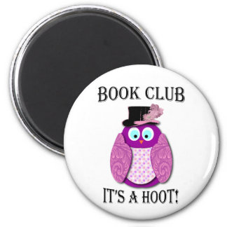 Book Club - It's A Hoot - Pink Design Magnet