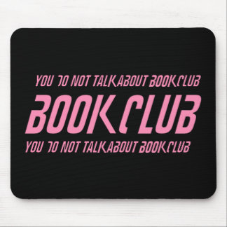 Book Club Rules Mouse Pad