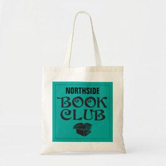 Book Club with custom name in teal Tote Bag