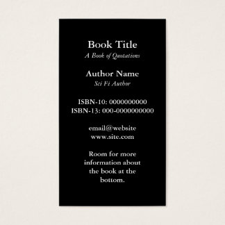 Book Cover Business Card