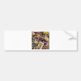 Book Cover Montage Bumper Sticker