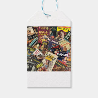 Book Cover Montage Gift Tags