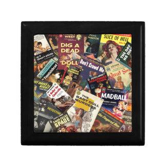 Book Cover Montage Small Square Gift Box