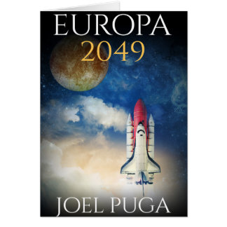 "Book Cover of ""Europa 2049"" by Joel Puga Greeting Card"