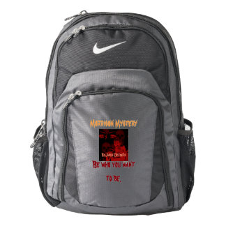 Book cover on book bag. backpack