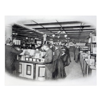 Book Department at an Army and Navy store Postcard