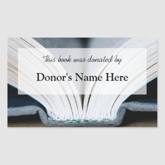 Book Donation Sticker