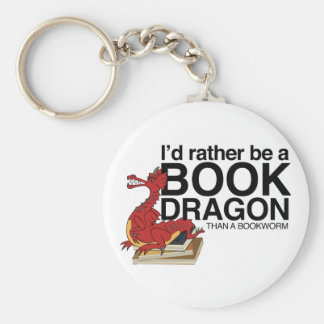 Book Dragon Key Ring