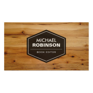 Book Editor - Modern Wood Grain Look Pack Of Standard Business Cards
