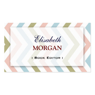 Book Editor - Natural Graceful Chevron Pack Of Standard Business Cards