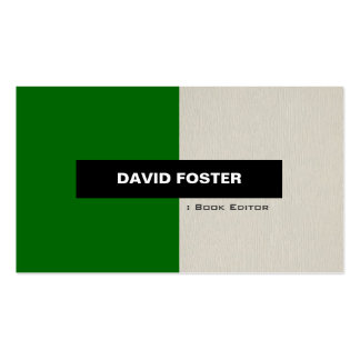 Book Editor - Simple Elegant Stylish Pack Of Standard Business Cards
