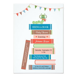 Book for Baby Shower Invitation