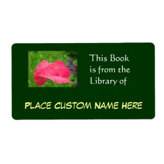 Book from the Library of Custom Name Green