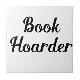 Book Hoarder Ceramic Tile