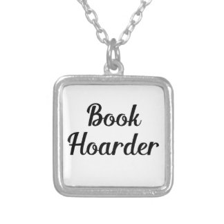 Book Hoarder Silver Plated Necklace