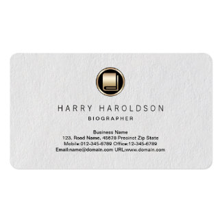 Book Icon Biographer Premium Business Card