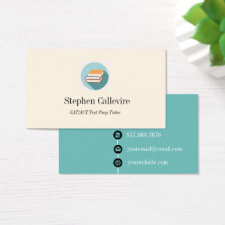 Book Icon Education Business Card