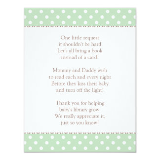 Book Instead of Card | Baby Shower Insert 11 Cm X 14 Cm Invitation Card