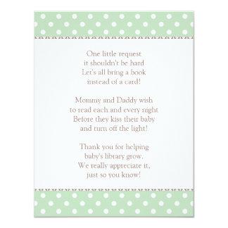 Book Instead of Card | Baby Shower Insert 11 Cm X 14 Cm Invitation Card