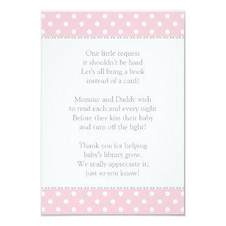 Book Instead of Card | Baby Shower Insert 9 Cm X 13 Cm Invitation Card
