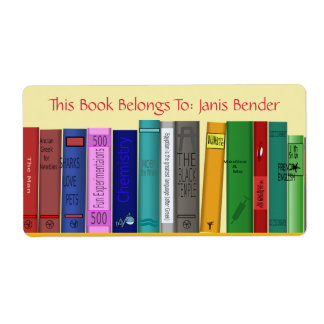 Book Label With Books