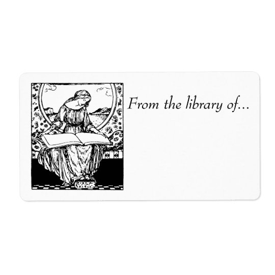 Book labels~ From the Library of... Mediaeval maid