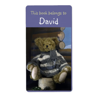 Book Labels with teddy bear