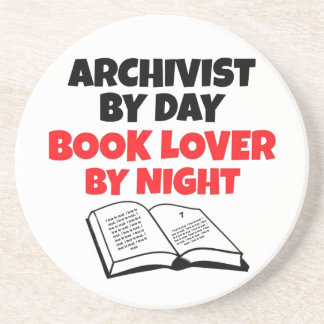 Book Lover Archivist Beverage Coaster