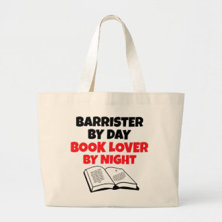 Book Lover Barrister Large Tote Bag