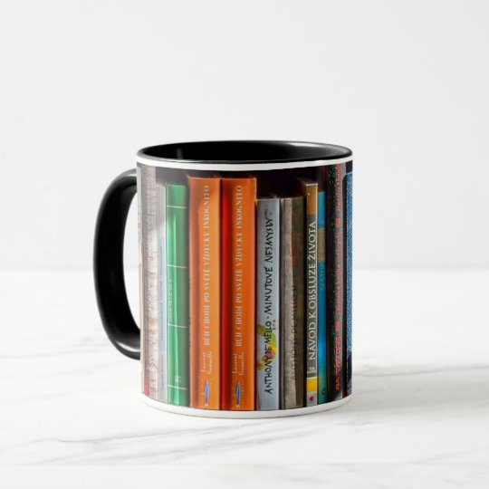 Book Lover Bookshelf Mug