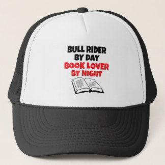 Book Lover Bull Rider Trucker Hat