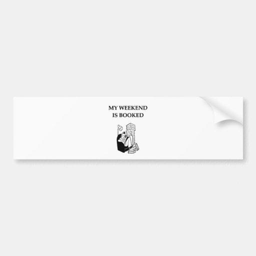 book lover bumper stickers