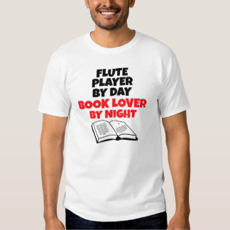 Book Lover Flute Player T Shirts