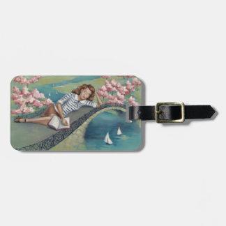 Book Lover Girl & Bridge Luggage Tag