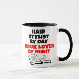 Book Lover Hair Stylist Mug