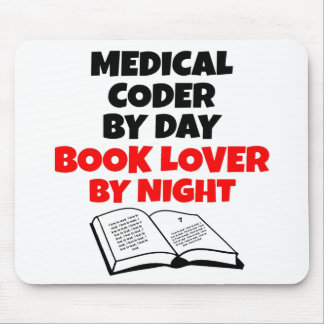 Book Lover Medical Coder Mouse Pad