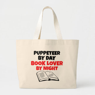 Book Lover Puppeteer Jumbo Tote Bag