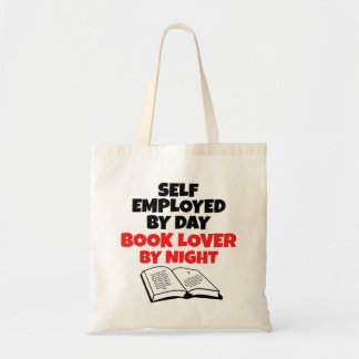 Book Lover Self Employed Budget Tote Bag
