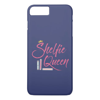Book Lover Shelfie Queen Blue and Pink iPhone 8 Plus/7 Plus Case