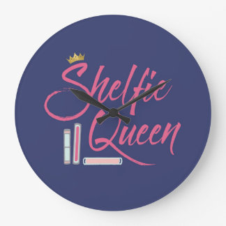 Book Lover Shelfie Queen Large Clock
