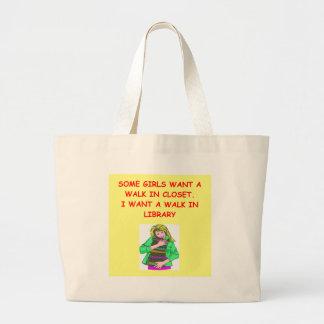 book lover jumbo tote bag