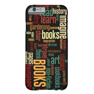 Book Lovers Lingo in Rust and Green Barely There iPhone 6 Case