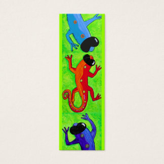 Book mark - Lizards in sunglasses Mini Business Card
