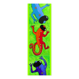 Book mark - Lizards in sunglasses Pack Of Skinny Business Cards