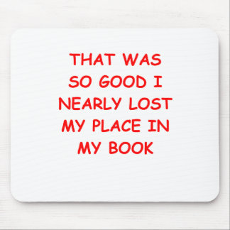 book mouse pad