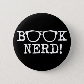 Book Nerd 6 Cm Round Badge