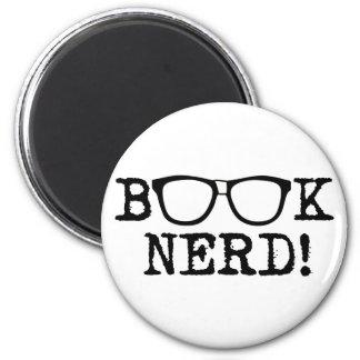 Book Nerd 6 Cm Round Magnet