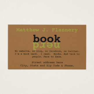 Book Nerd Business Card