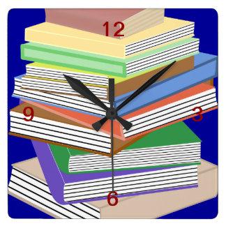 Book Nerd Wall Clock