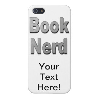 Book Nerd Grey Case For iPhone 5